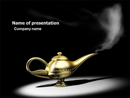 General: Aladdin's Magic Lamp PowerPoint Template #05956