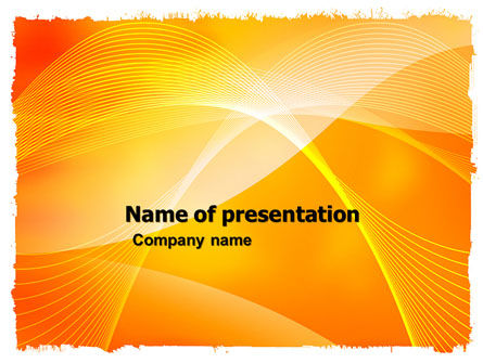 Abstract/Textures: Orange Art Design PowerPoint Template #05957