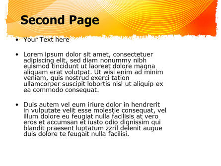 Orange Art Design PowerPoint Template Slide 2