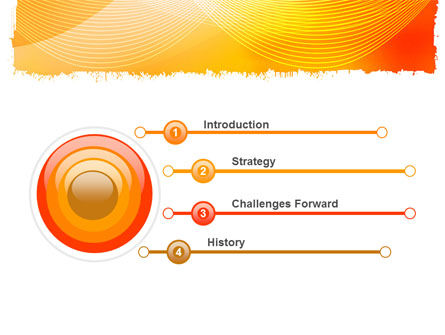 Orange Art Design PowerPoint Template Slide 3