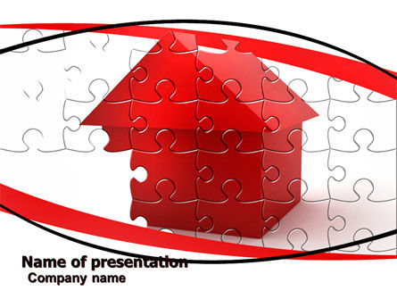 Cottage Puzzle PowerPoint Template