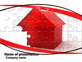 Financial/Accounting: Cottage Puzzle PowerPoint Template #05958