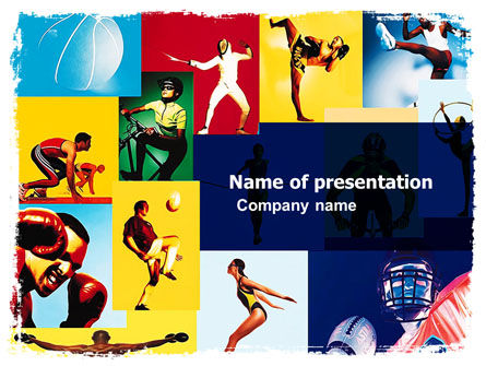 Summer Sport PowerPoint Template, 05959, Sports — PoweredTemplate.com