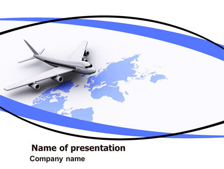 Cars and Transportation: Wide World Air Transportation PowerPoint Template #05960