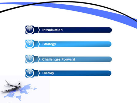 Wide World Air Transportation PowerPoint Template Slide 3