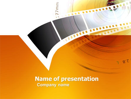 Movie Film PowerPoint Template, 05961, Careers/Industry — PoweredTemplate.com