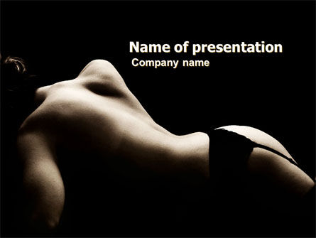 People: Naked Beauty PowerPoint Template #05962