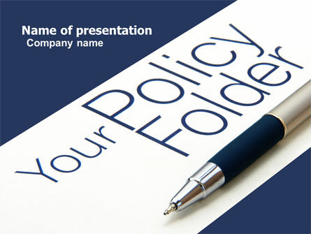 Policy Folder PowerPoint Template, 05963, Consulting — PoweredTemplate.com