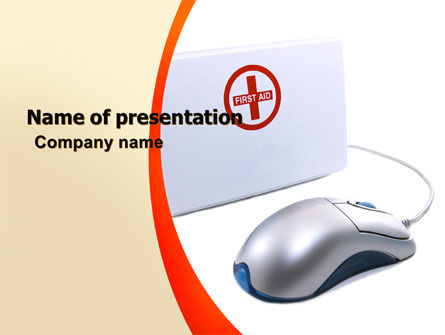 Computer Diagnostics PowerPoint Template, 05964, Medical — PoweredTemplate.com