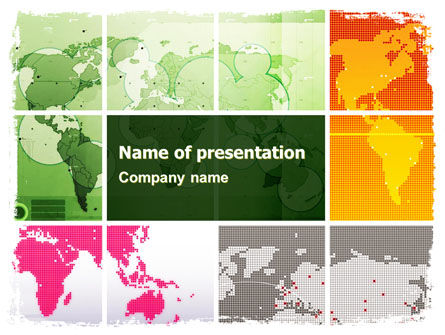 Tracking Satellite PowerPoint Template, 05966, Global — PoweredTemplate.com