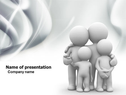 3D Family PowerPoint Template, 05970, Religious/Spiritual — PoweredTemplate.com
