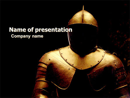 Education & Training: Knight Armour PowerPoint Template #05971