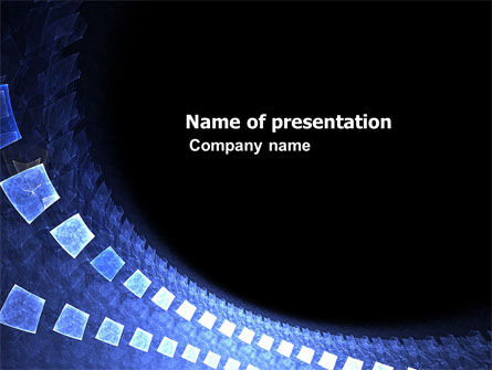 Blue Square PowerPoint Template, 05973, Abstract/Textures — PoweredTemplate.com