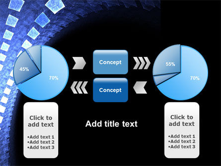 Blue Square PowerPoint Template Slide 11