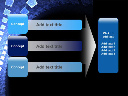 Blue Square PowerPoint Template Slide 12