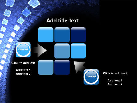 Blue Square PowerPoint Template Slide 16