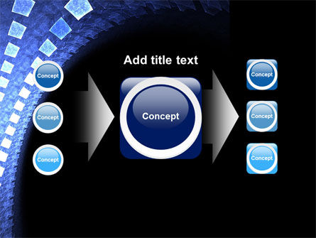 Blue Square PowerPoint Template Slide 17