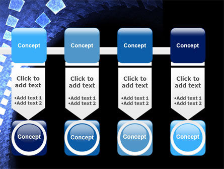 Blue Square PowerPoint Template Slide 18
