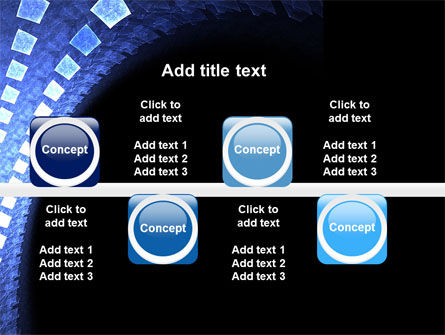 Blue Square PowerPoint Template Slide 19