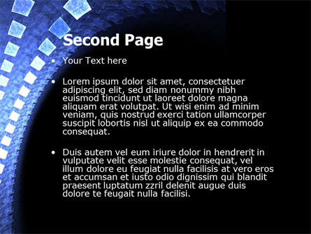 Blue Square PowerPoint Template Slide 2