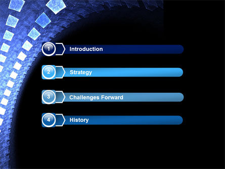 Blue Square PowerPoint Template Slide 3