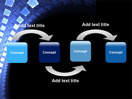 Blue Square PowerPoint Template Slide 4