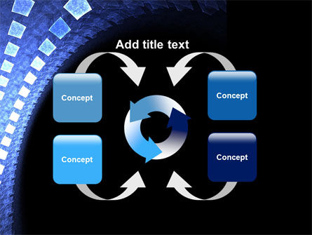 Blue Square PowerPoint Template Slide 6
