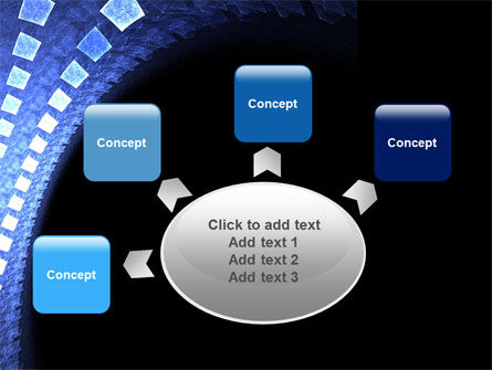 Blue Square PowerPoint Template Slide 7