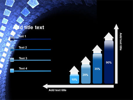 Blue Square PowerPoint Template Slide 8