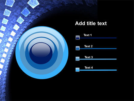 Blue Square PowerPoint Template Slide 9