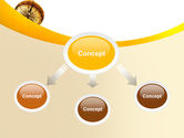 Compass Lying On The Map PowerPoint Template#4