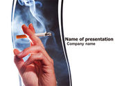 Medical: Quitting Smoking PowerPoint Template #05975