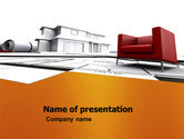 Construction: Visualization Of House Draft Free PowerPoint Template #05976
