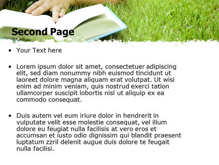 Reading On Summer Vacations PowerPoint Template, Slide 2, 05977, Education & Training — PoweredTemplate.com