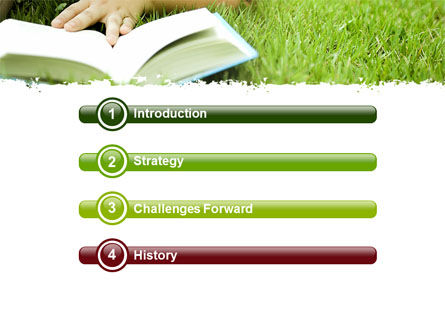 Reading On Summer Vacations PowerPoint Template, Slide 3, 05977, Education & Training — PoweredTemplate.com