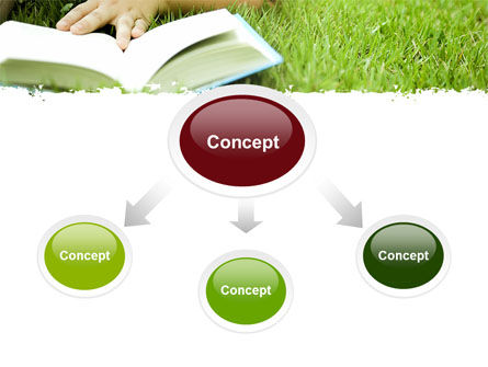 Reading On Summer Vacations PowerPoint Template, Slide 4, 05977, Education & Training — PoweredTemplate.com