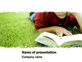 Education & Training: Lesen auf sommerferien PowerPoint Vorlage #05977