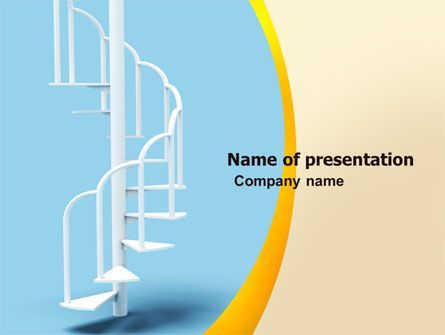 Winding Stairs PowerPoint Template, 05978, Careers/Industry — PoweredTemplate.com