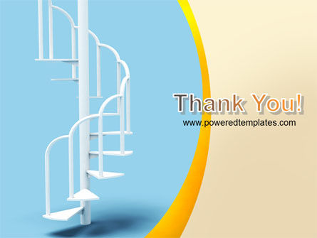 Winding Stairs PowerPoint Template Slide 20