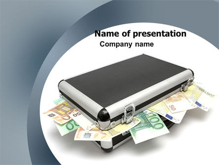 Financial/Accounting: Euro Depository PowerPoint Template #05979