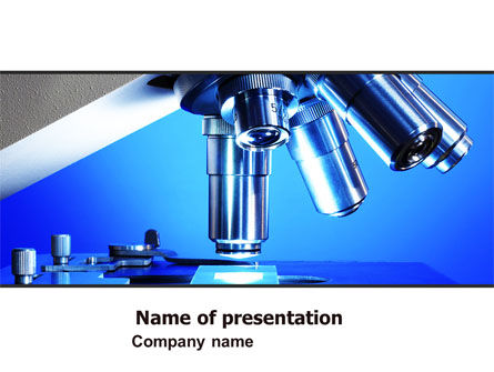 Technology and Science: Microscope Lens PowerPoint Template #05981