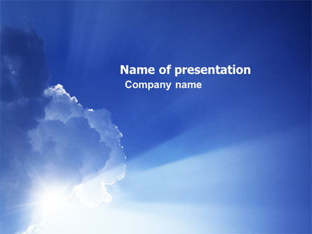 Sky PowerPoint Template, 05983, Nature & Environment — PoweredTemplate.com