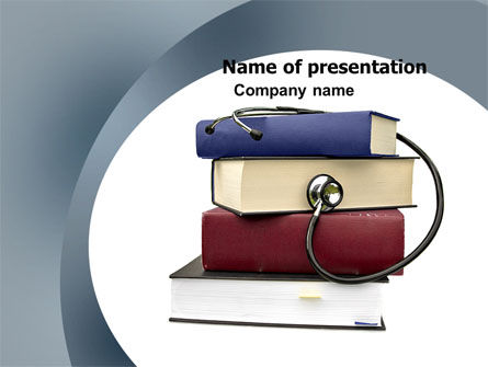 Medical Textbooks PowerPoint Template, 05985, Medical — PoweredTemplate.com
