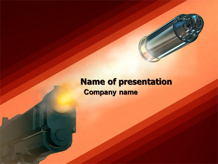 Pistol PowerPoint Template, 05986, Military — PoweredTemplate.com