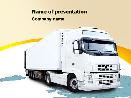 Truck Tractor PowerPoint Template, 05987, Cars and Transportation — PoweredTemplate.com