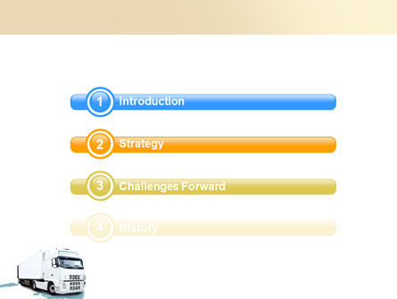 Truck Tractor PowerPoint Template, Slide 3, 05987, Cars and Transportation — PoweredTemplate.com