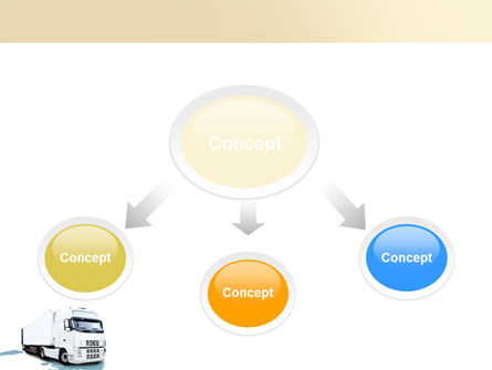 Truck Tractor PowerPoint Template, Slide 4, 05987, Cars and Transportation — PoweredTemplate.com
