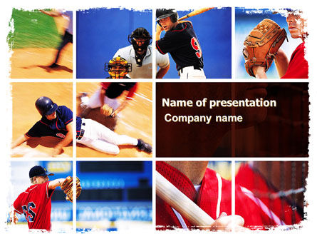 Baseball PowerPoint Template, 05988, Sports — PoweredTemplate.com