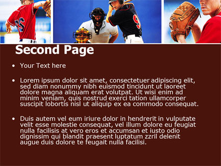 Baseball PowerPoint Template, Slide 2, 05988, Sports — PoweredTemplate.com