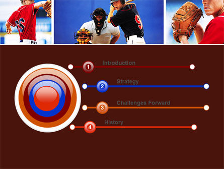 Baseball PowerPoint Template, Slide 3, 05988, Sports — PoweredTemplate.com